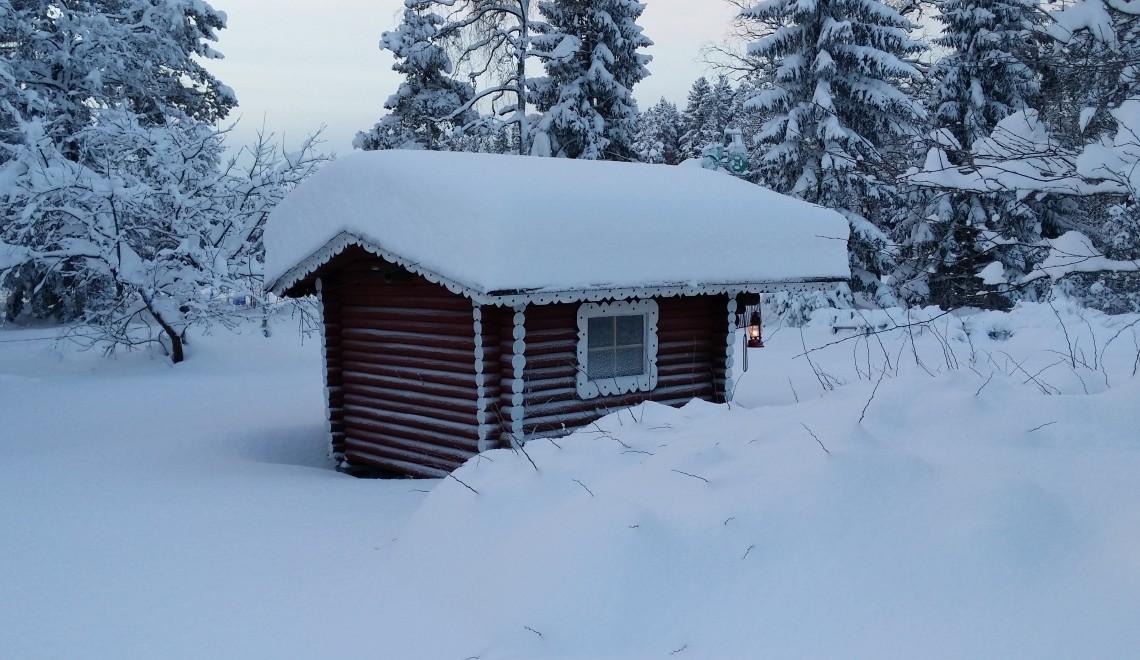 Merikarvialla ennätyksellinen lumisade