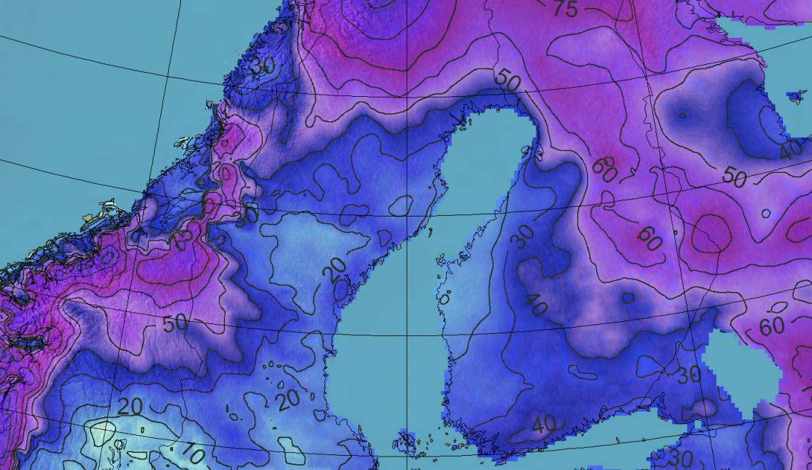 Etelän hiihtolomaviikolla runsaasti lumisateita?